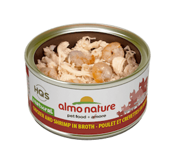 Natural Chicken & Shrimp In Broth Canned Cat Food, 70g, Case of 24