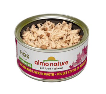 Natural Chicken & Liver In Broth Canned Cat Food