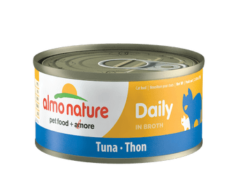 Daily Tuna In Broth Canned Cat Food, 70g, Case of 24