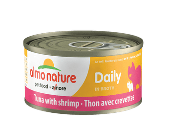 Daily Tuna With Shrimp In Broth Canned Cat Food, 70g, Case of 24