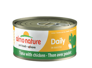 Daily Tuna With Chicken In Broth Canned Cat Food, 70g, Case of 24
