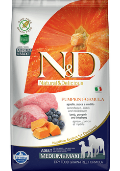 Pumpkin Formula Lamb & Blueberry Medium & Large Breed Dry Dog Food