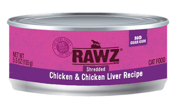Shredded Chicken & Chicken Liver Canned Cat Food, 5.5oz