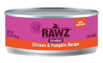 Shredded Chicken & Pumpkin Canned Cat Food, 5.5oz