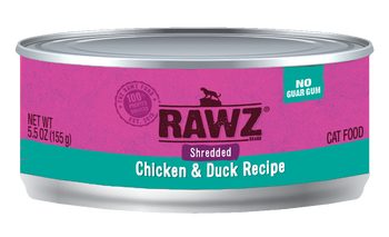 Shredded Chicken & Duck Canned Cat Food, 5.5oz