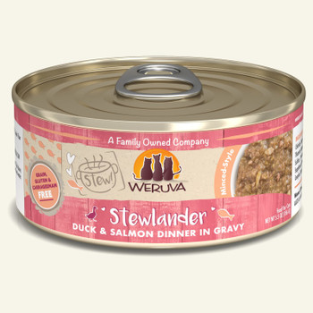Stewlander Duck & Salmon in Gravy Canned Cat Food, 5.5oz, Case of 8