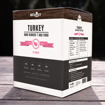 Ethically-Raised Turkey Raw Dog Food, 454g, Pack of 8