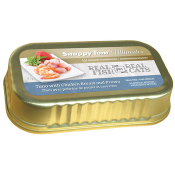 Tuna with Chicken Breast and Prawn Canned Cat Food, 85g, Case of 12