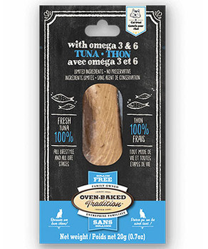 Tuna Steak & Omega 3 & 6 Fillet Moist Cat Treat