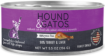 98% Turkey & Turkey Liver Canned Cat Food, 5.5oz