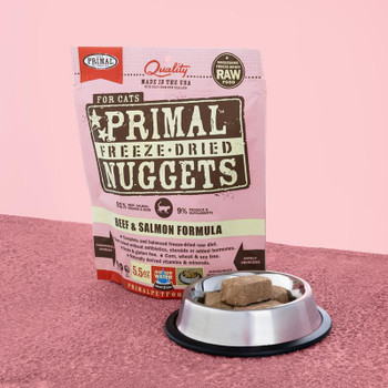 Beef & Salmon Freeze-Dried Cat Food