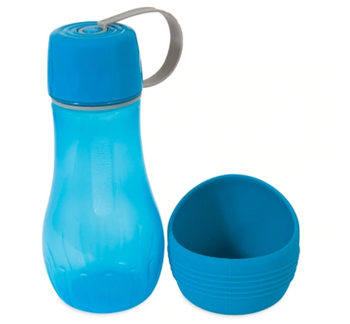To-Go Water Bottle with A Removable Bowl