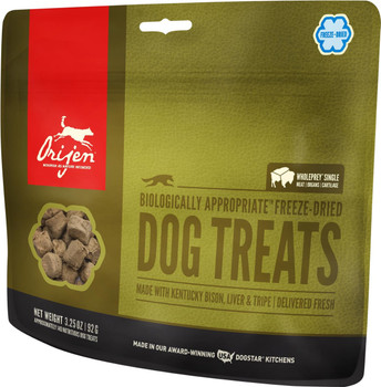 ORIJEN FREEZE-DRIED PLAINS BISON DOG TREATS