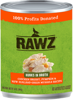 Hunks In Broth Chicken Breast, Pumpkin & New Zealand Green Mussels Canned Dog Food