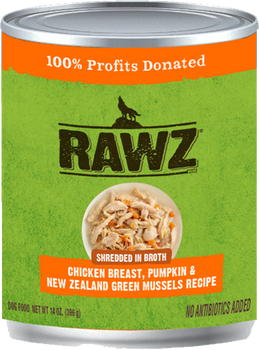Shredded In Broth Chicken Breast, Pumpkin & New Zealand Green Mussels Canned Dog Food, 14oz, Case of 12