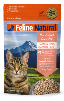 Lamb & King Salmon Feast Freeze Dried Topper for Cats