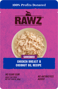 Shredded Chicken Breast & Coconut Oil Wet Cat Food Pouch
