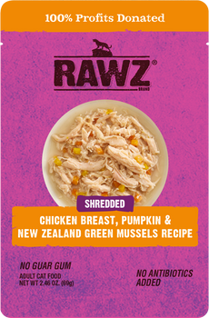Shredded Chicken Breast, Pumpkin & New Zealand Green Mussels Cat Food Pouch