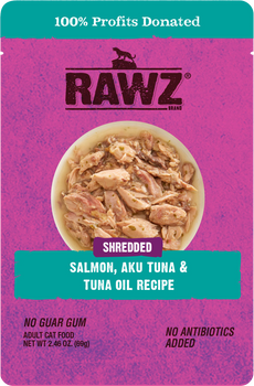 Shredded Salmon, Aku Tuna & Tuna Oil Cat Food Pouch