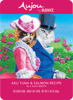 Aujou Aku Tuna & Salmon in Silky Broth Wet Cat Food Pouch