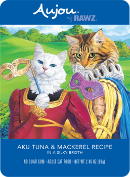 Aujou Aku Tuna & Mackerel in Silky Broth Wet Cat Food Pouch