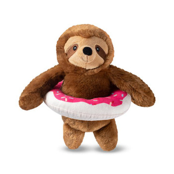 Donut Worry It's Pool Time Sloth Plush Dog Toy