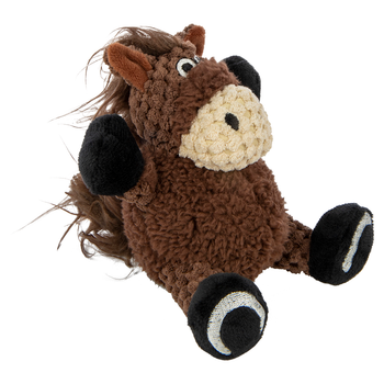 Checkers Sitting Horse Plush Dog Toy - Small