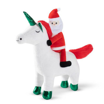 Santa's Magical Ride Unicorn Plush Dog Toy