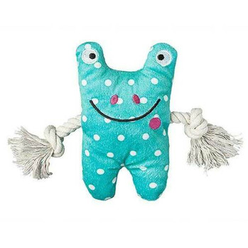 Frog Greybar Plush Dog Toy