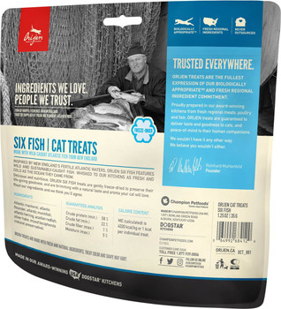ORIJEN FREEZE-DRIED SIX FISH CAT TREATS