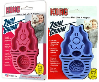 Zoom Bath, Deshedding & Groom Brush for Medium & Large Breeds
