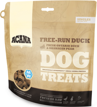 ACANA FREEZE-DRIED SINGLES DUCK & PEAR DOG TREATS