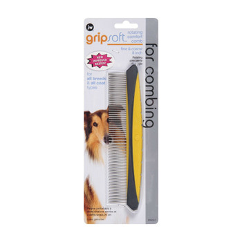 Gripsoft Rotating Comfort Comb for Fine and Coarse Hair for Dogs