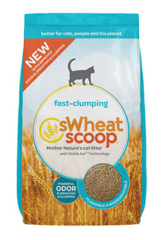 Wheat-Based Fast Clumping Biodegradable and Flushable Cat Litter