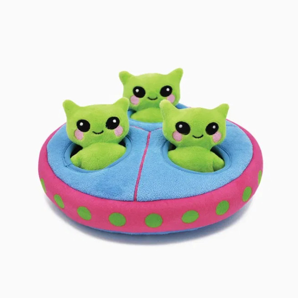 UFO Plush Dog Puzzle Toy