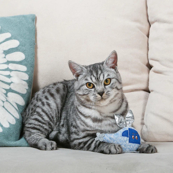 Meow Helicopter Cat Plush Toy with Catnip