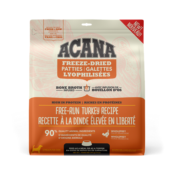 Free-Run Turkey & Herring Freeze-Dried Bone Broth Infused High Protein Patties