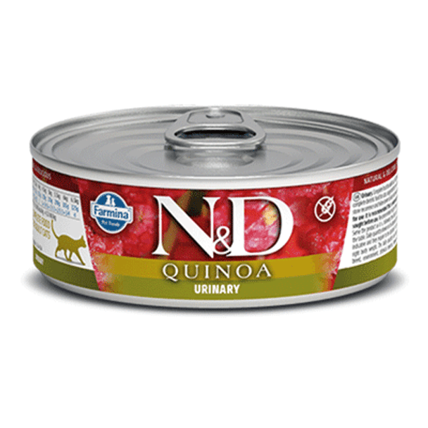 Quinoa Functional Formula Urinary Health Duck Canned Cat Food, 80g, Case of 12
