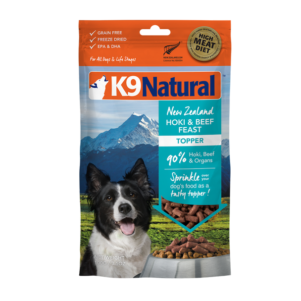 Hoki & Beef Feast Freeze Dried Topper for Dogs