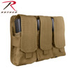 Rothco Universal Triple Mag Rifle Pouch - Coyote Brown