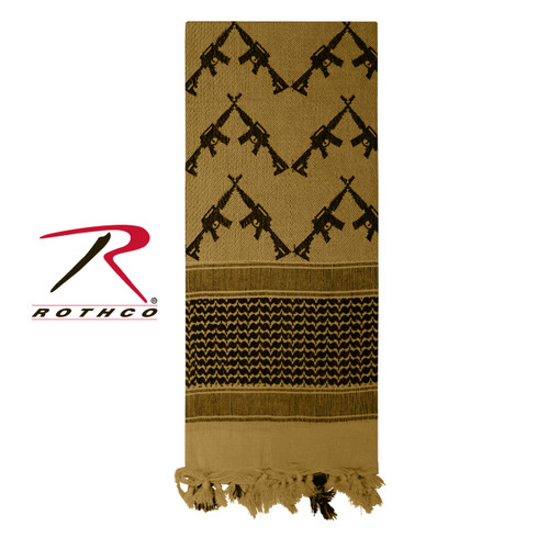 Rothco Crossed Rifles Shemagh Tactical Scarf - Coyote Brown