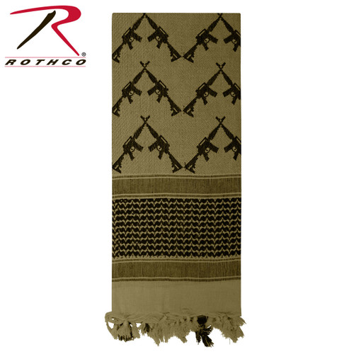 Rothco Crossed Rifles Shemagh Tactical Scarf - Olive Drab
