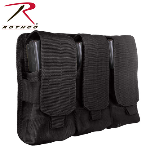Rothco Universal Triple Mag Rifle Pouch - Black