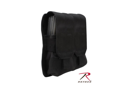 Rothco Molle Double Pistol Mag Pouch With Insert - Black