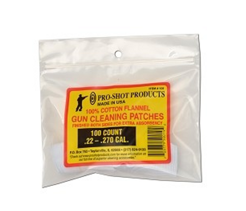 Pro-Shot Gun Cleaning Patches - 100ct. .22-.270 cal.