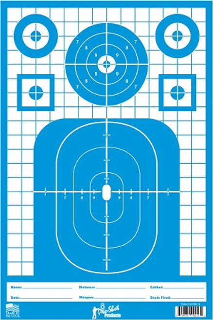 "Pro-Shot Splatter Shot 12""x18"" Tactical Precision Target - Pistol/Rifle/Shotgun Heavy Tag Paper - 8 Pack"