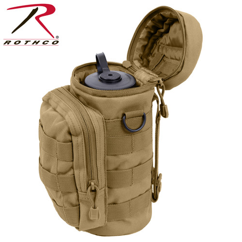 Rothco MOLLE Compatible Water Bottle Pouch - Coyote Brown