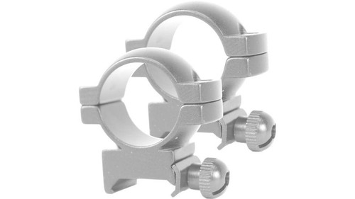 """Simmon 1"""" Silver Scope Rings For .22cal"""