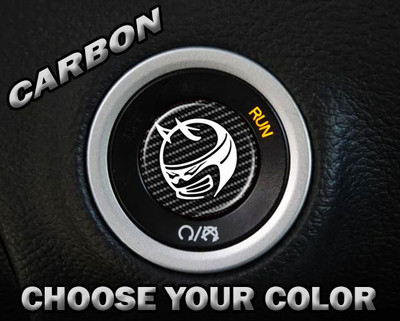 Carbon Scat Pack Starter Button Overlay