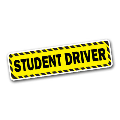 Student Driver bumper sticker decal.